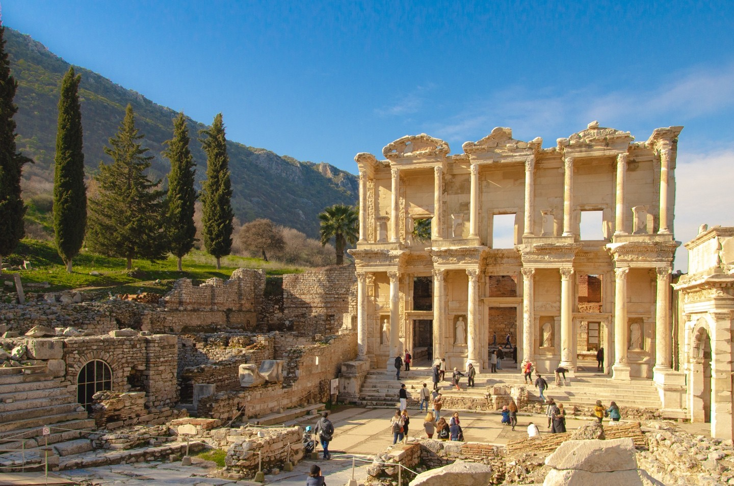Kusadasi Port to Ephesus Ruins - Temple of Artemis - Aqua Fantasy Water Park